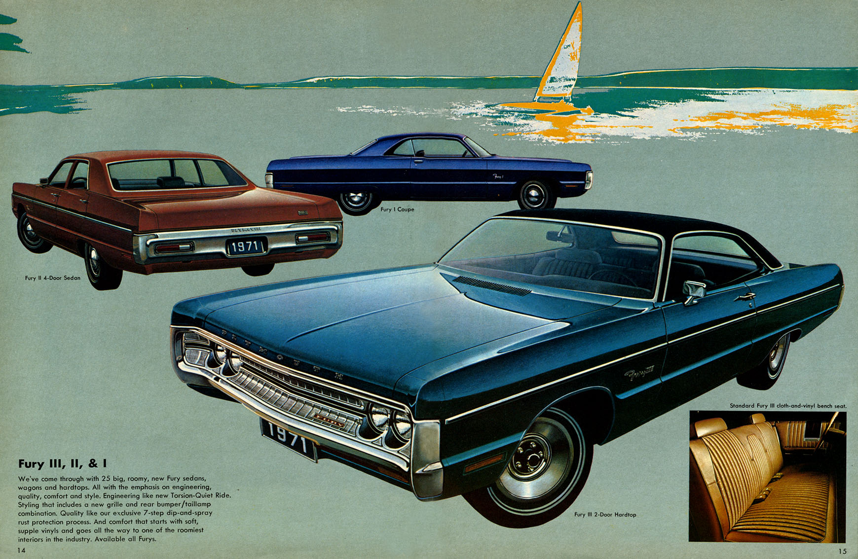 Brochure Classic 1971 Plymouth Fury I Coupe The Rarest Of All 69 Radiator Course This Is Same Rendering Just A Different Background But From
