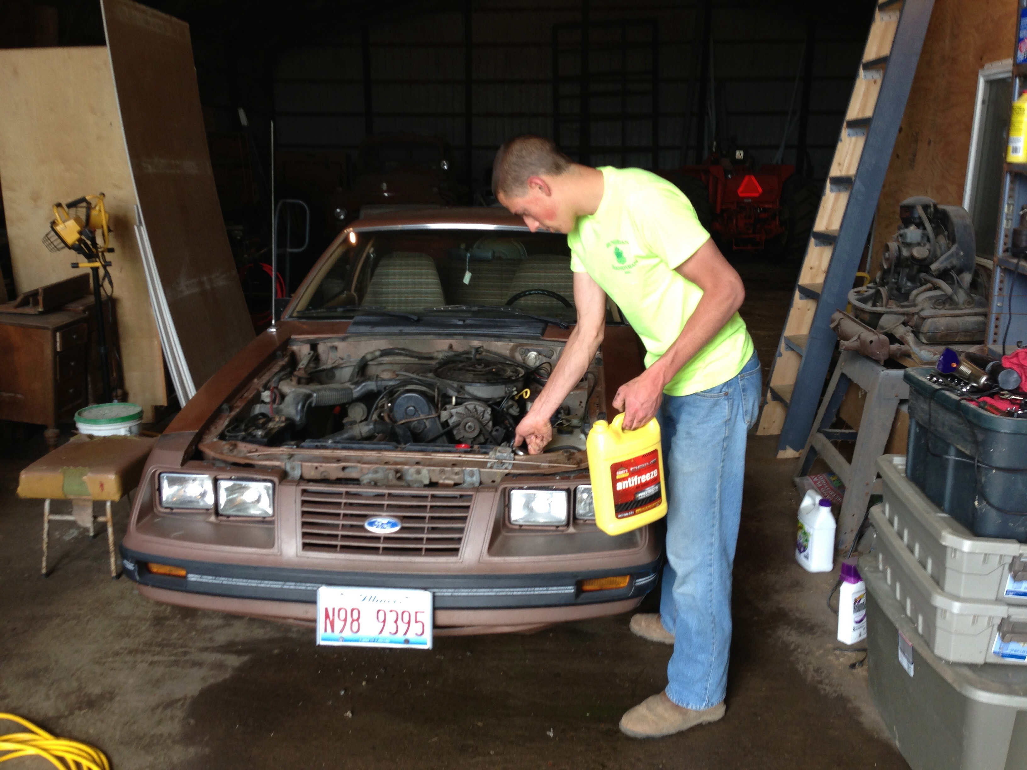 Curbside Classic 1989 Ford Mustang Lx Our Dirty Little Secret 1988 Ranger 2 3 Timing Marks Heres The Earlier L Also With 23l Engine Thats Son Number Two Doing What He Had To Do A Lot Of