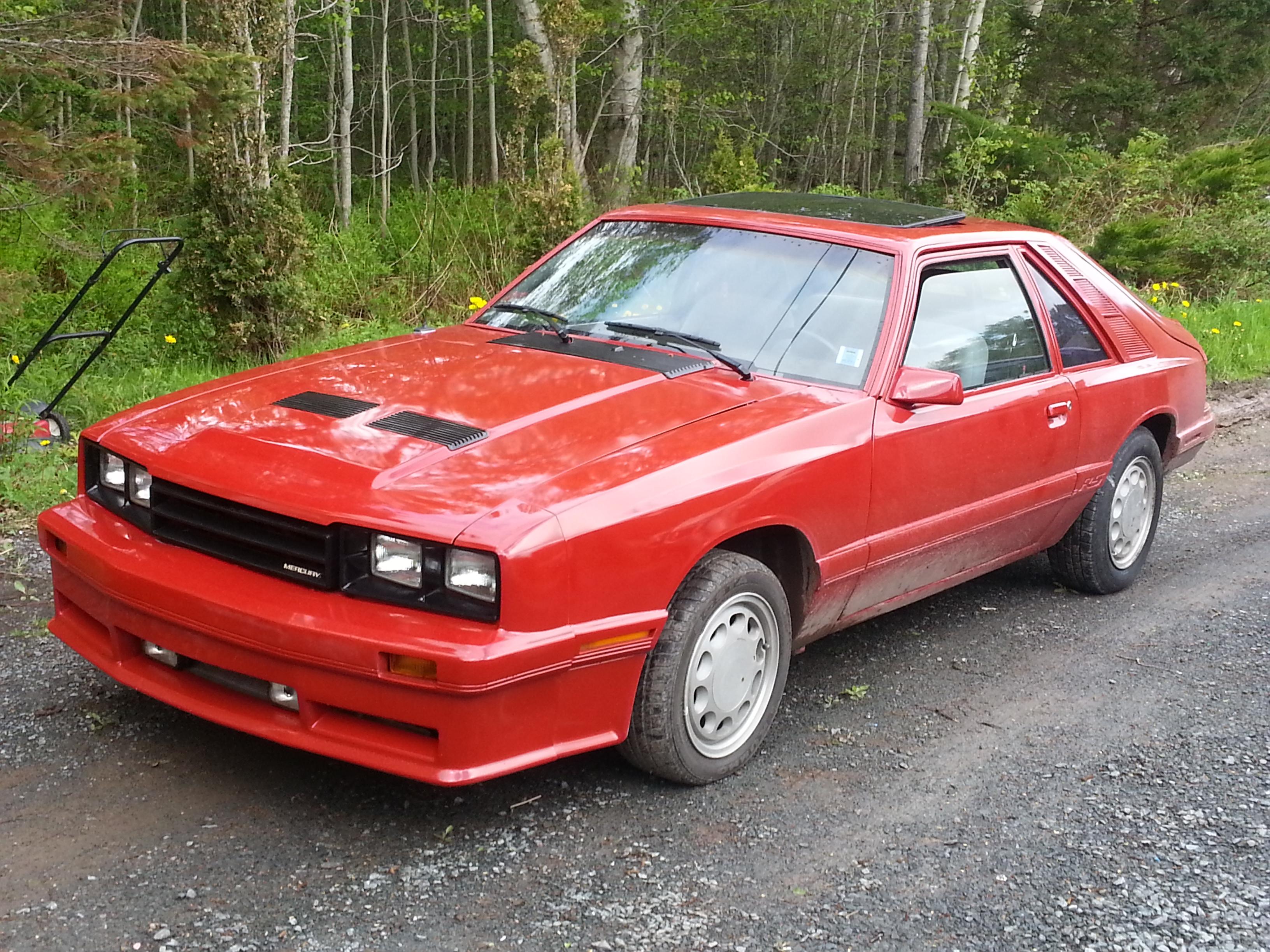 Cohort Classic 1984 1986 Mercury Capri Rs 50 Bubble Back Ford Mustang Gt 5 0 Convertible