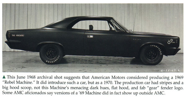 Cc capsule 1969 amc rebel sst for those too lazy to click the link heres the prototype 1969 rebel machine sciox Images