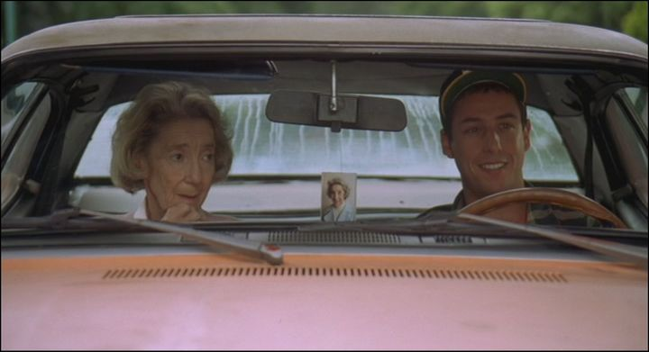cohort sighting plymouth gold duster \u2013 power popone last duster in the movies reference adam sandler in happy gilmore note the picture of his grandmother hanging from the rearview mirror