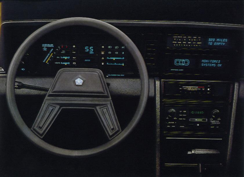 on 1989 Dodge Daytona Interior
