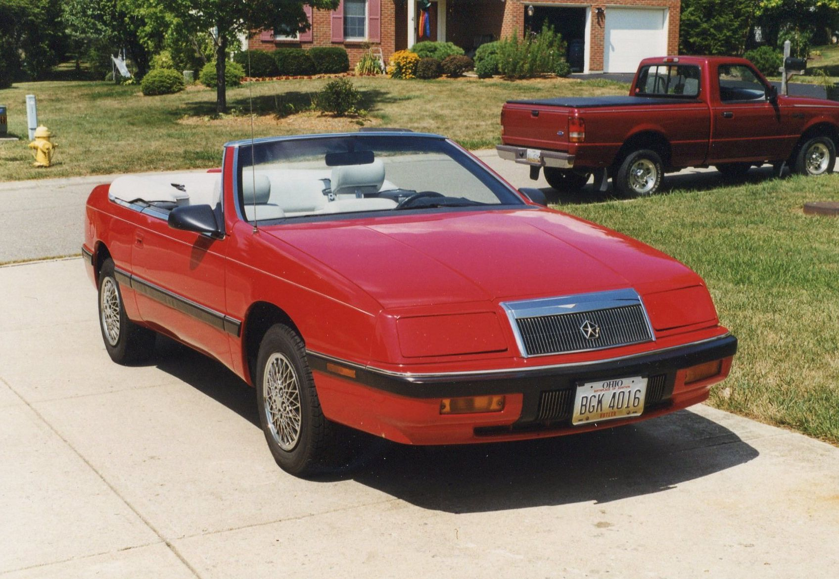 92 chrysler lebaron convertible