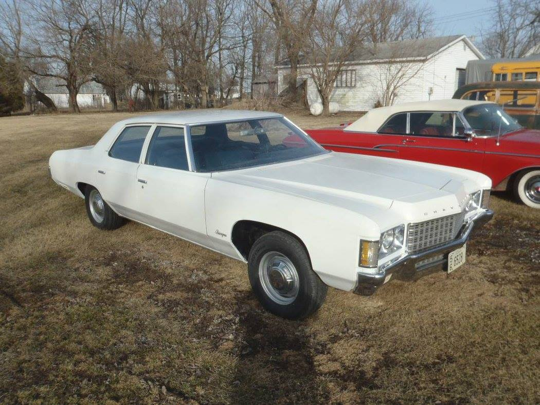 one owner 71 biscayne seems to be a rare car it has the 250 inline 6 with a 3 on the tree it is solid white and was last driven on 2004