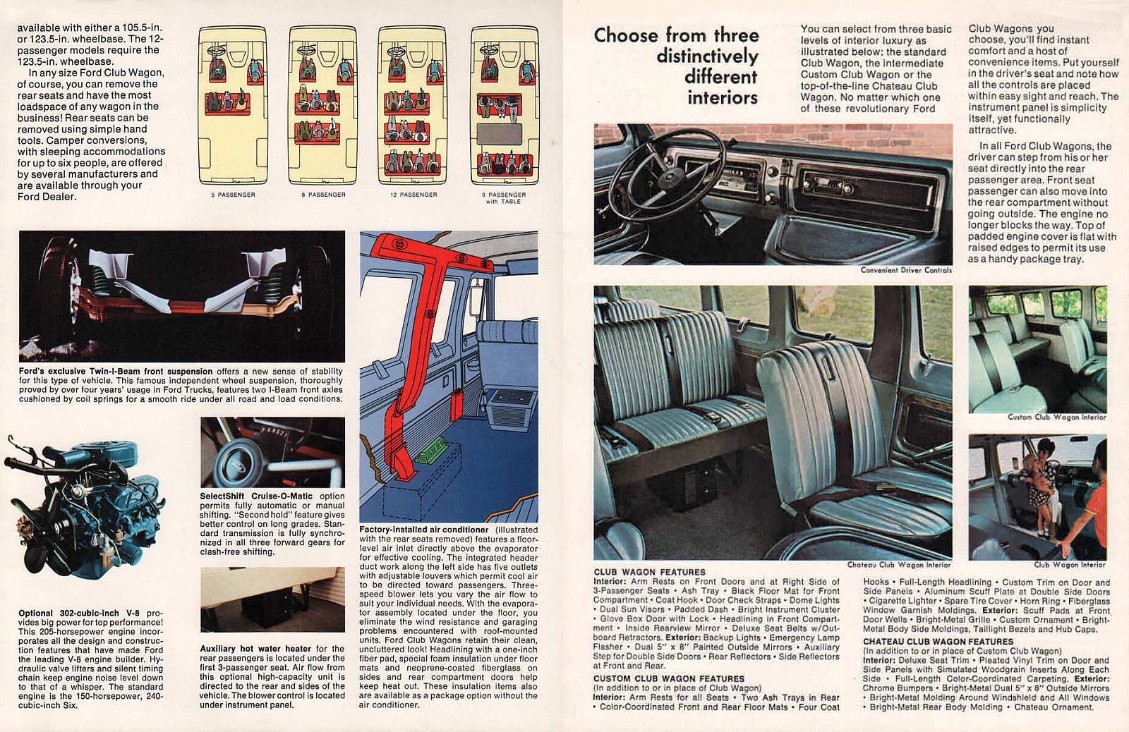 Cold Comfort 1956 Lincoln Premiere Factory Air Conditioning Wiring Diagram For 1998 Ford E350 Transit Bus Did An Underfloor Unit Ducted Overhead The 68 74 Econoline Club Wagons