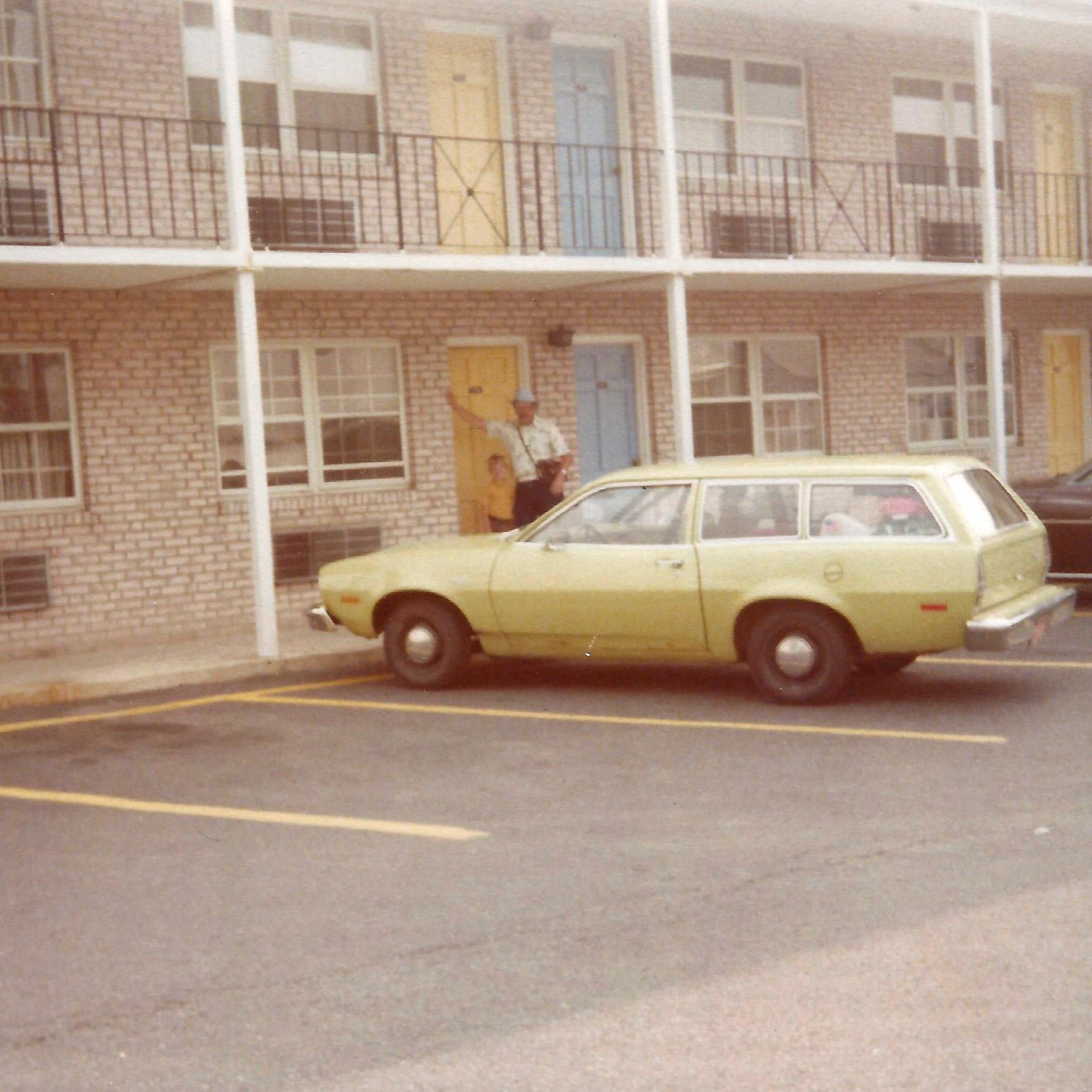 Orange Ford Pinto Hatchback White Jerusalem House