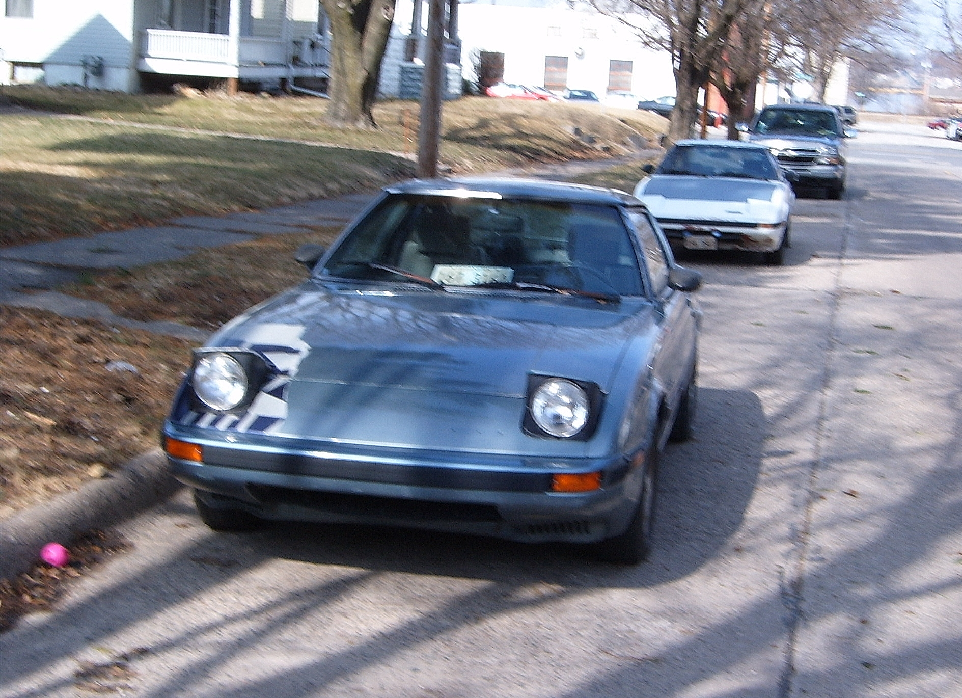 Curbside Classic 1983 Mazda Rx 7 Zinger 1986 Rx7 Wiring Diagram For Headlights I Spotted Two 7s On The Same Street Last Year But Never Got Around To Writing Them Up White One In Background Was A Lot More Bedraggled Than