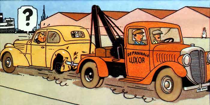 Tintin tow truck