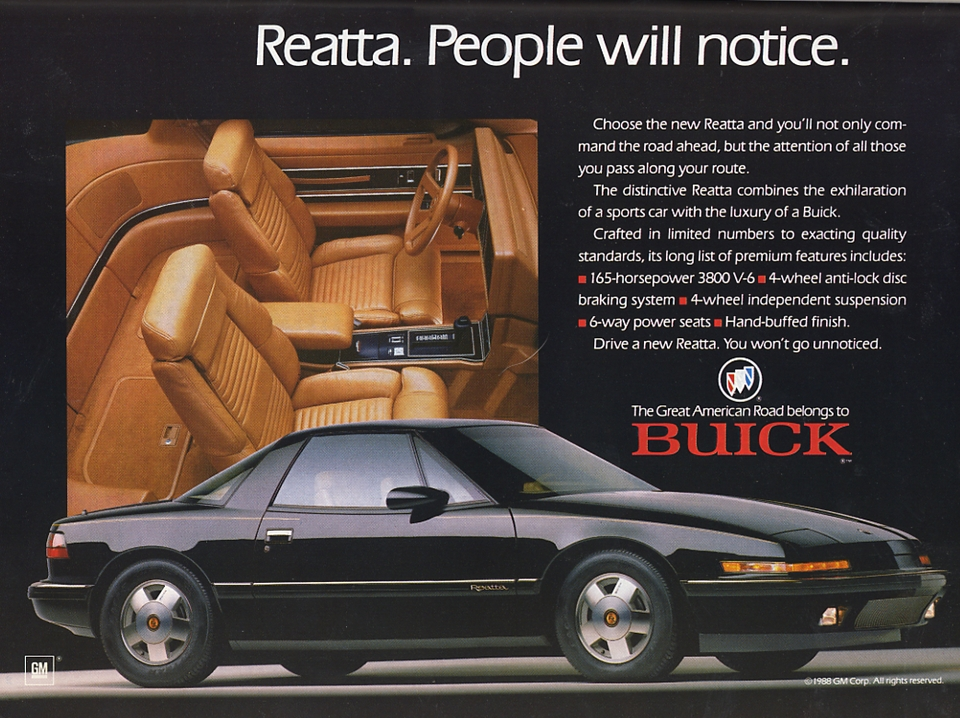 Buick Reatta Interior The Reatta Episode at Buick is