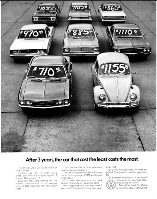 VW 1966 ad used
