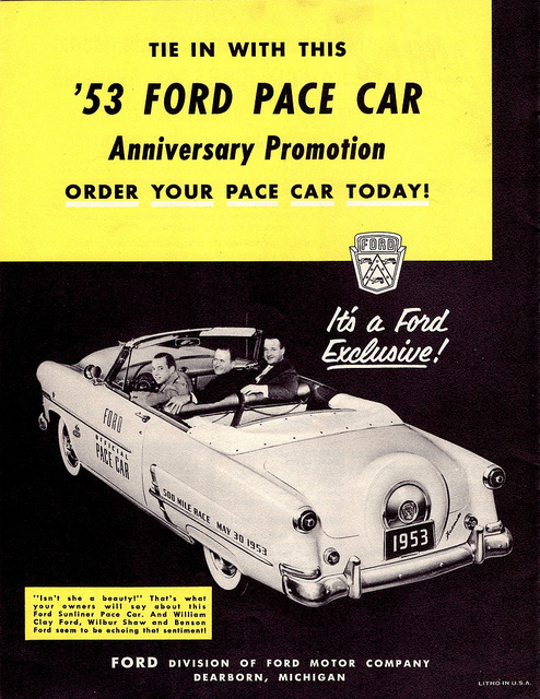 Chevy Dealers In Ma >> Automotive History: Indianapolis 500 Pace Cars (Part 2 ...
