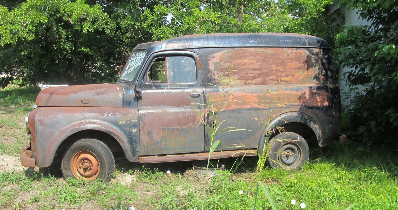 Curbside Classic 1952 Dodge B Series Panel Truck Work