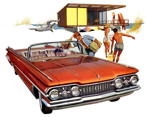 Beach Time 1959 Olds Hovercraft