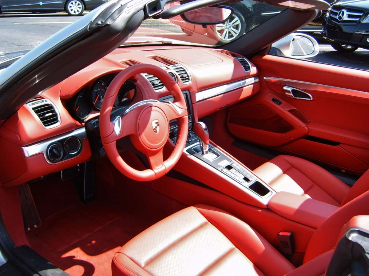future cc look a red interior in a new car. Black Bedroom Furniture Sets. Home Design Ideas