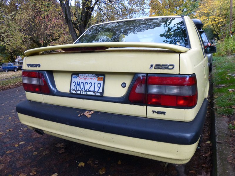 Curbside Classic Capsule: 1995 Volvo 850 T-5R – A Rare Yellow Bird ...