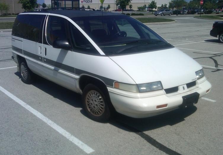 Oldssilhouette Crop on 1990 Chevy Lumina Van