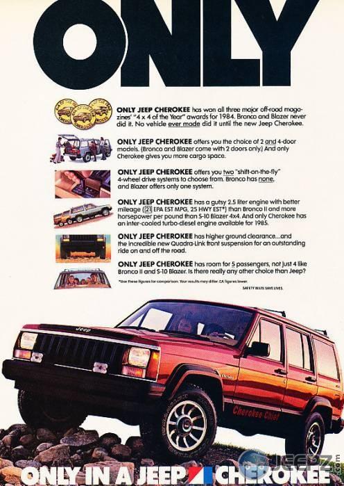Jeep Cherokee 1985 -ad
