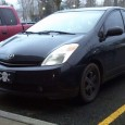 Seen at a local movie multiplex this week: Blacked-out Prius, not a bad look. But check out the plate. Pirates in a Prius?