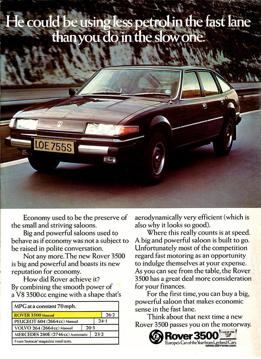 Rover 3500 ad