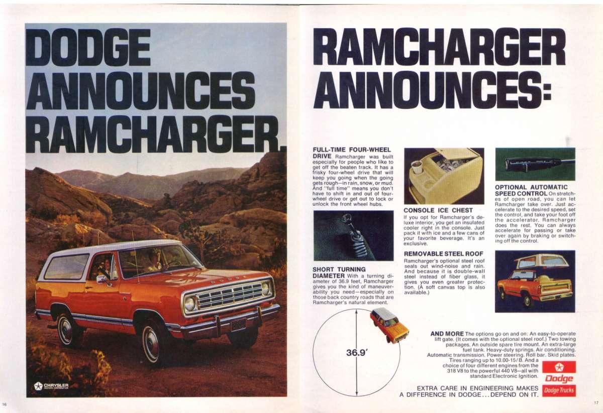 Dodge Ramcharger 1974