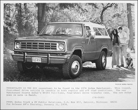 Dodge Ramcharger 1974 soft top