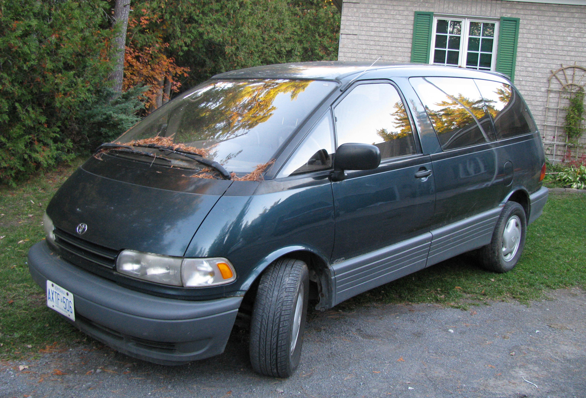 my first car of a lifetime 1994 toyota previa all trac the g bubble. Black Bedroom Furniture Sets. Home Design Ideas