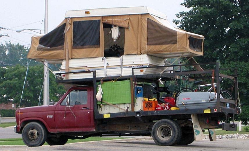 The Bi-Level Camper: Good Thing The Front Sleeper Is Tied Down