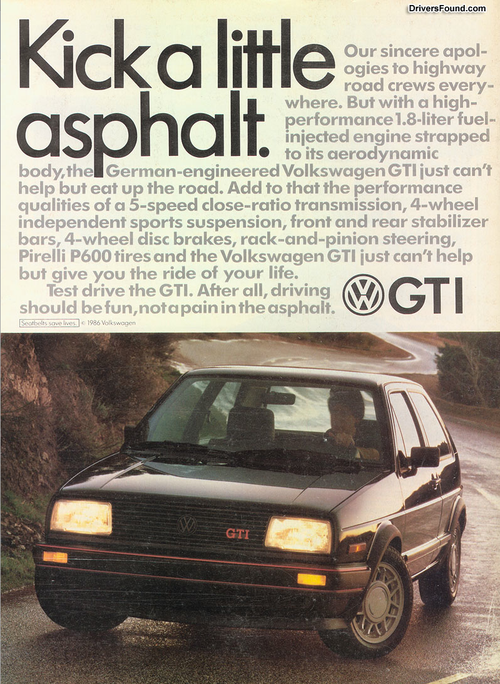 Coal 1986 Vw Gti Kick A Little Asphalt