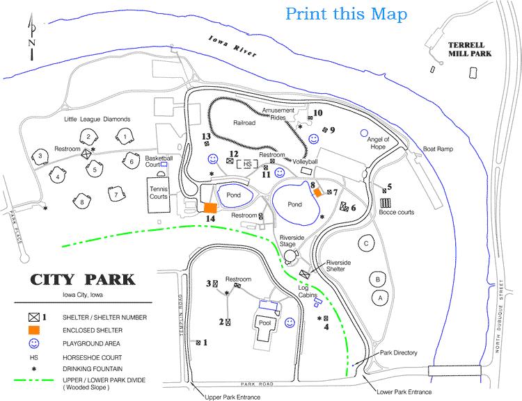 Iowa city ParkMap