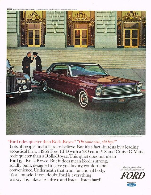 Ford LTD 1965 ad