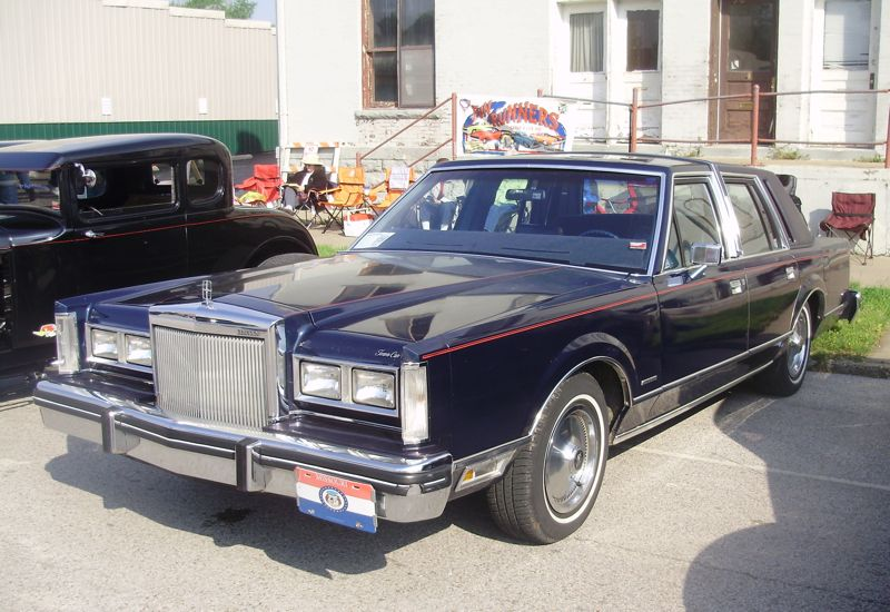 Vintage Lincoln town car