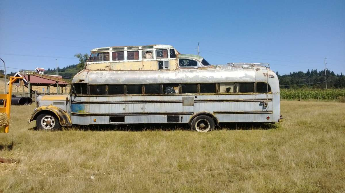 Hippie Buses Cc Outtake Hippie Bus Out To Pasture