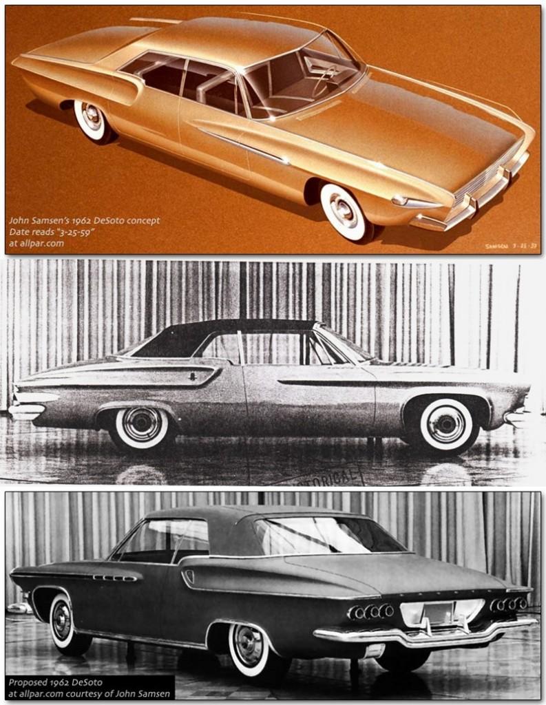 1962 DeSoto styling studies.  Source of all photos: Allpar.com