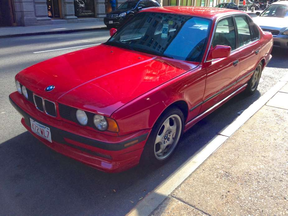 curbside classic 1992 bmw 525i e34 the red bimmer of my childhood dreams. Black Bedroom Furniture Sets. Home Design Ideas