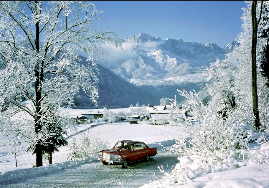 Opel Rekord A coupe winter