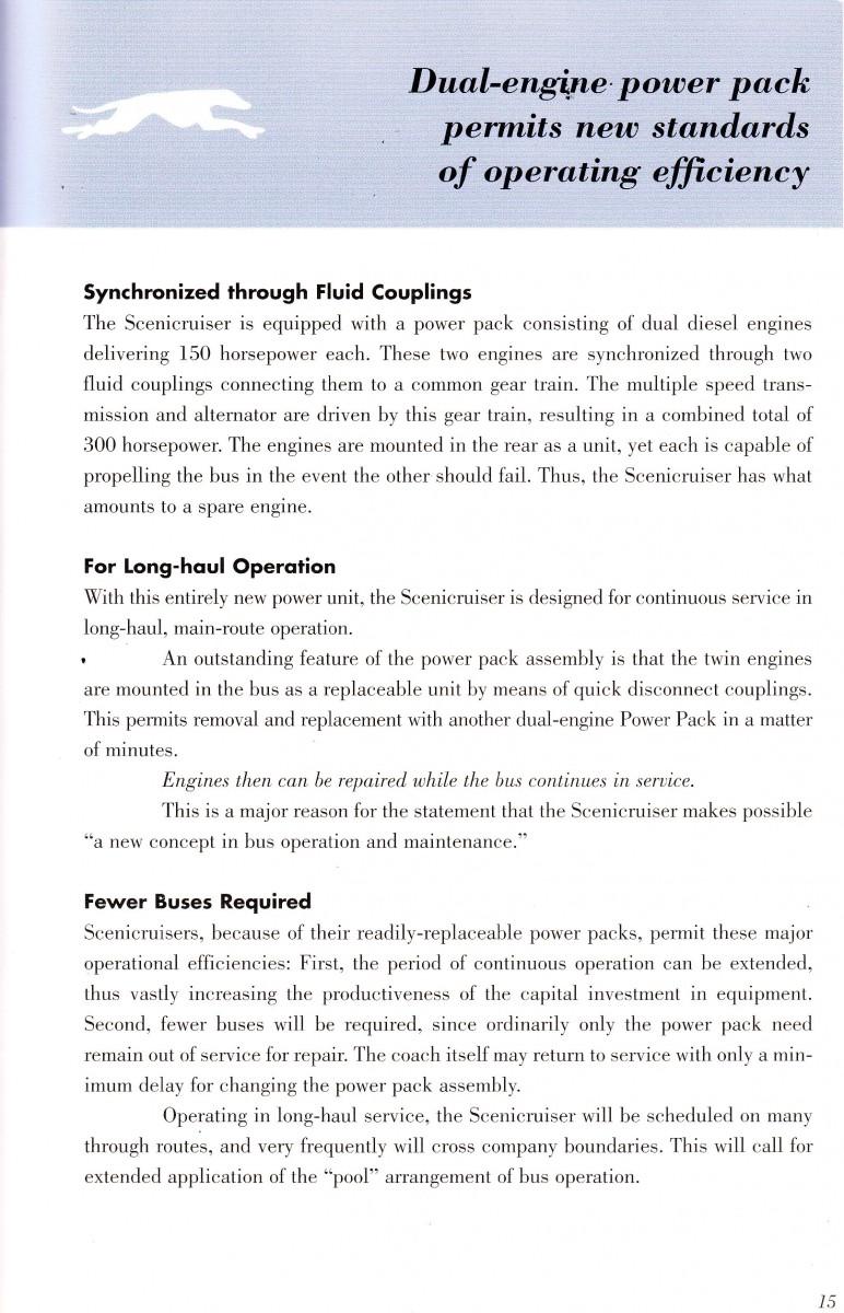 Scenicruiser engines powerpack