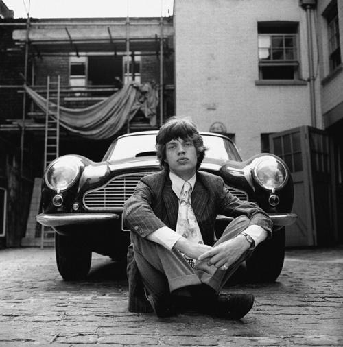 Mick Jagger 1965 Aston Martin