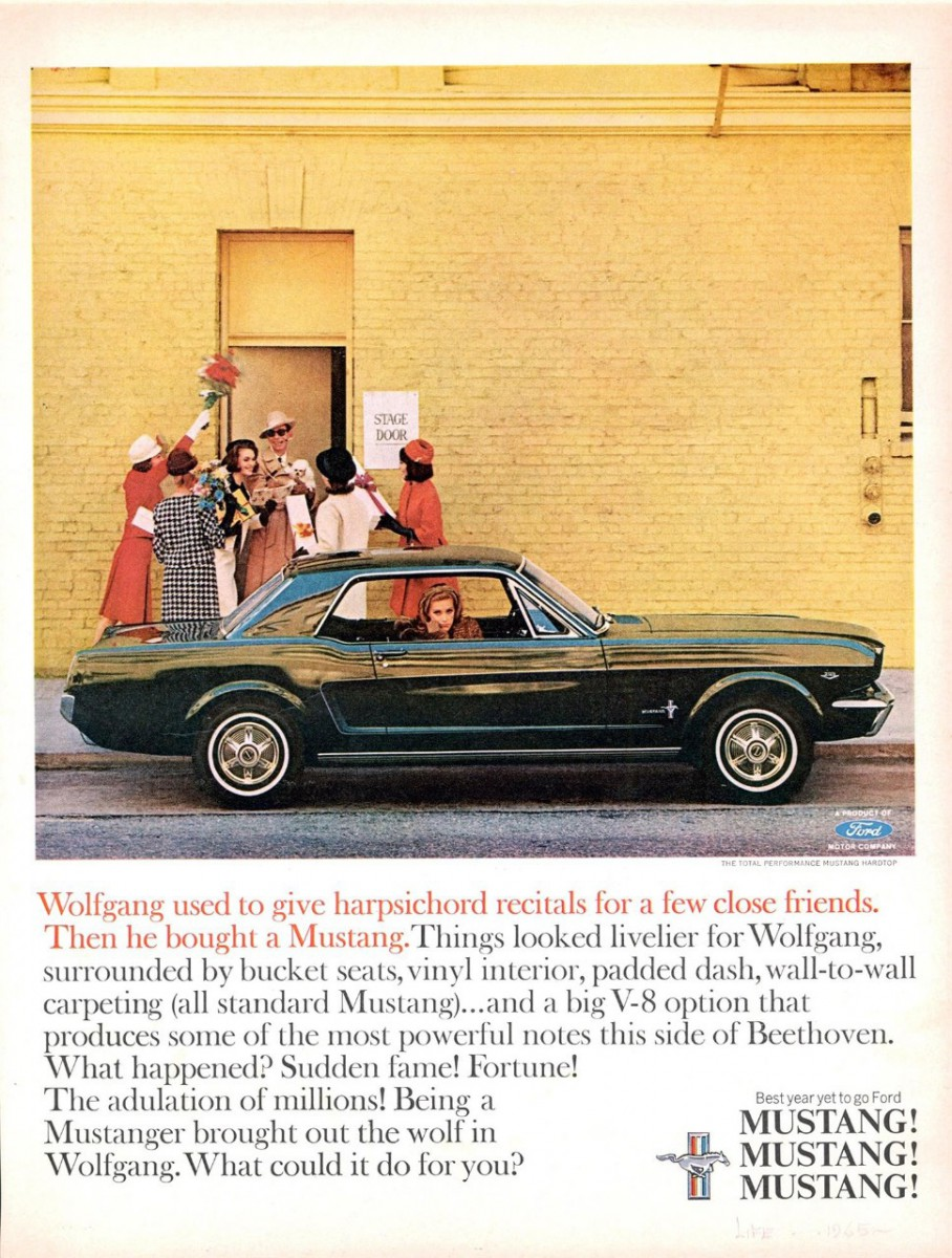 mustang 1965 ad