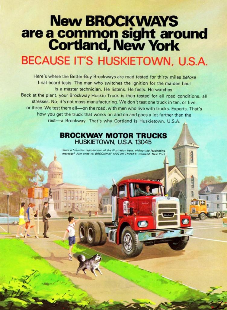 1969 Brockway truck ad