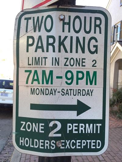 400 Parking Sign