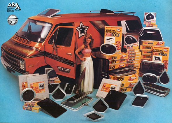 Vintage Ad 1979 Ford Vans Black Light Not Included
