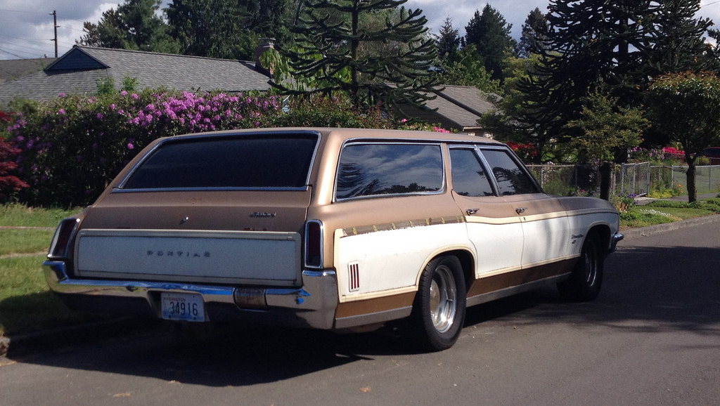 Cohort Classic 1970 Pontiac Executive Safari Our Kind Of Brown Station Wagon Curbside Classic