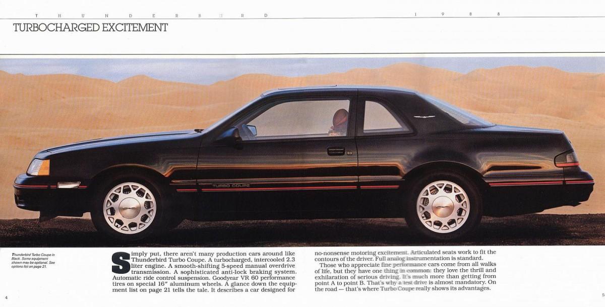 1988 Ford Thunderbird Interior 1988 Ford Thunderbird Turbo