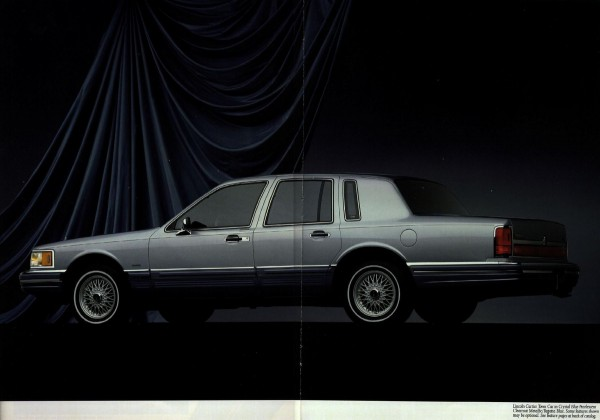 Car Brands Starting With L >> Brochure Outtake: 1990 Lincoln Town Car – Panthers Join ...