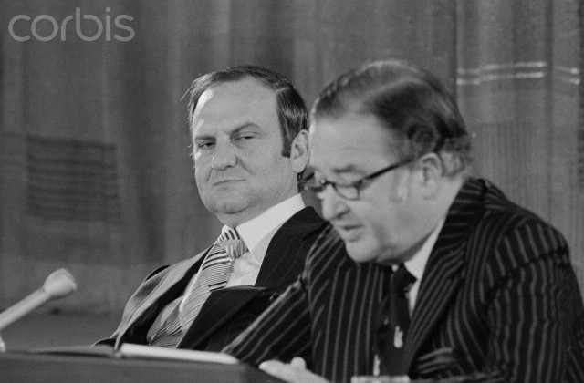 Henry Ford II and Lee Iacocca at a News Conference