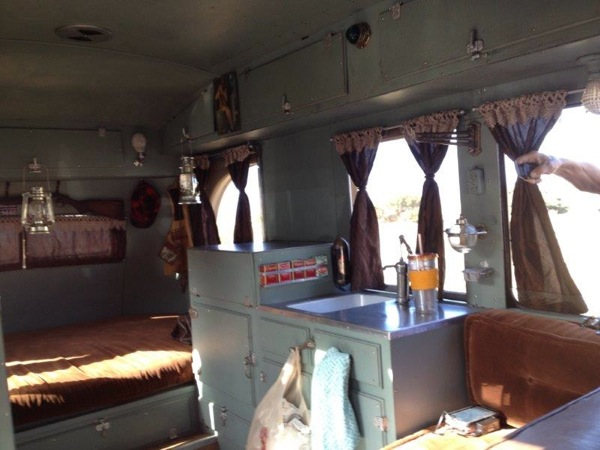 Packard 1937 RV inside