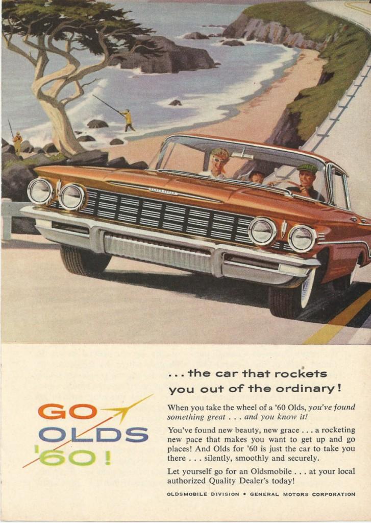 vintage 1960 Oldsmobile ad