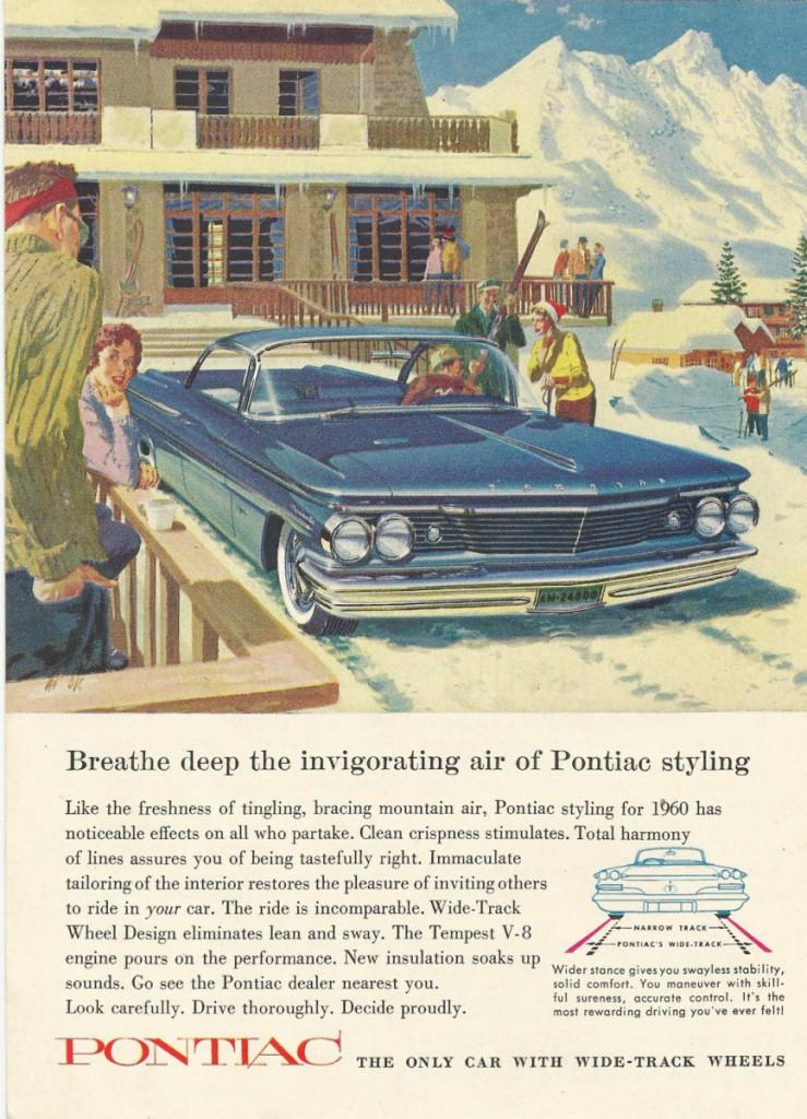 vintage Pontiac 1960 ad