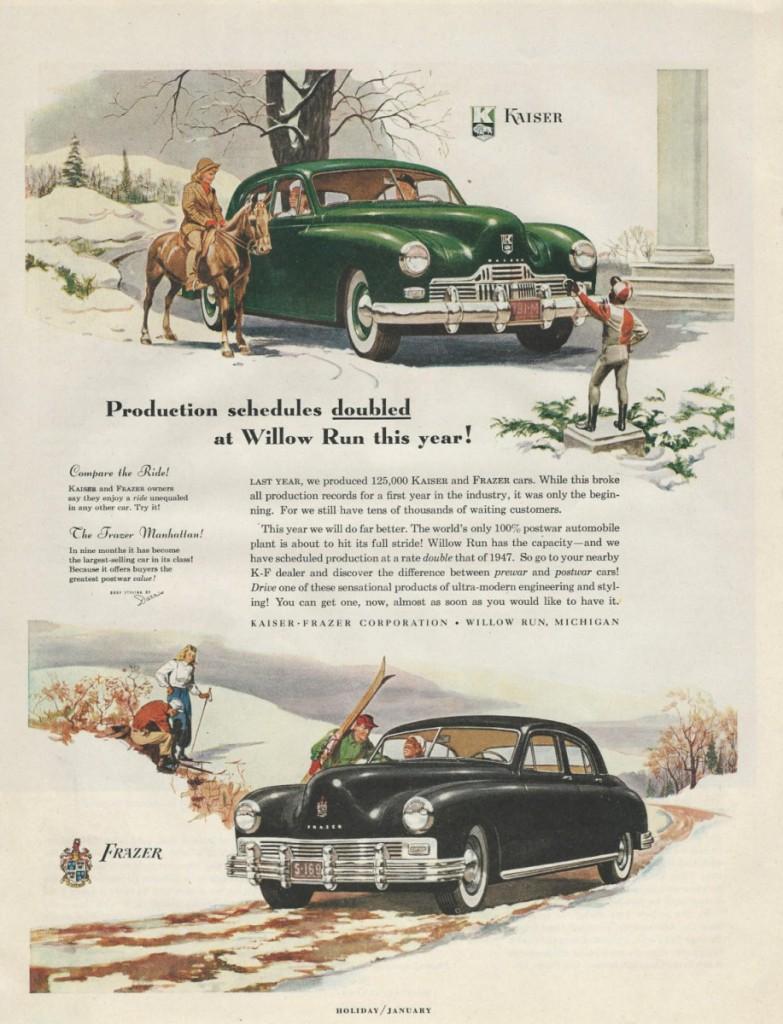 vintage kaiser frazer 1948 ad