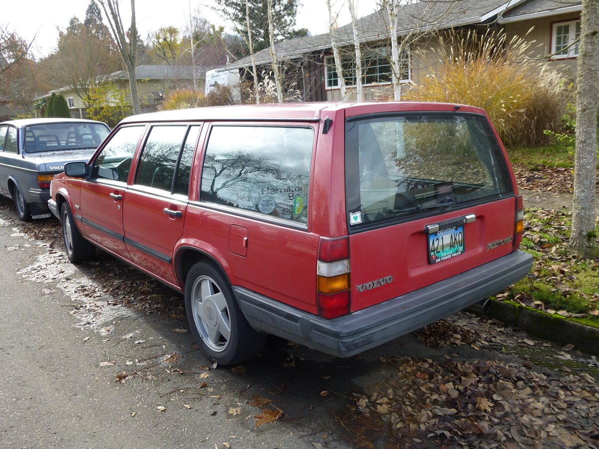 Curbside Classic: 1991 Volvo 740 Turbo Wagon – Deservedly ...